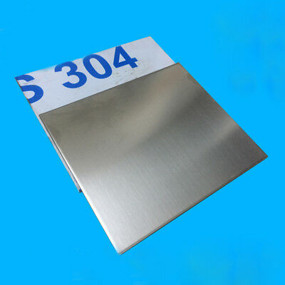 304 Stainless Steel Sheet Plate Thick 0.8/0.5mm 200x200mm 300x400mm DIY Model