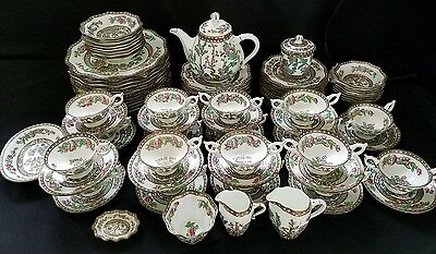 Antique COALPORT Indian Tree place setting for (12) 98pieces  - C.1890 to 1920's