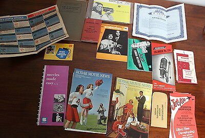 vintage camera and photo manuals and booklets - LOT