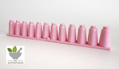 Flexible and Reusable Silicone Suppository Mold Moulds - strip of 12