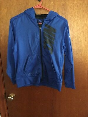 Boys Youth Medium Blue Nike Zip Up Jacket