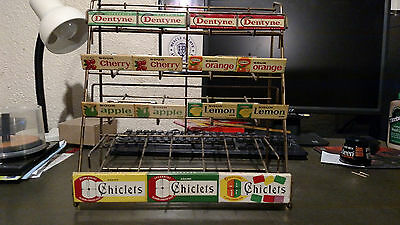 Gum store wire countertop display rack vintage
