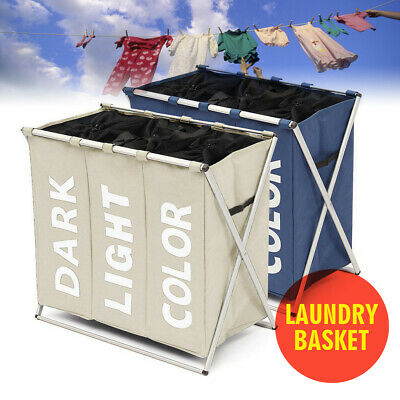 Foldable Laundry Sorter Hamper Clothes Storage Basket Bin Organizer Washing Bag