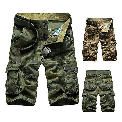 Summer Mens Shorts Casual Army Cargo Combat Camo Camouflage Sports Short Pants