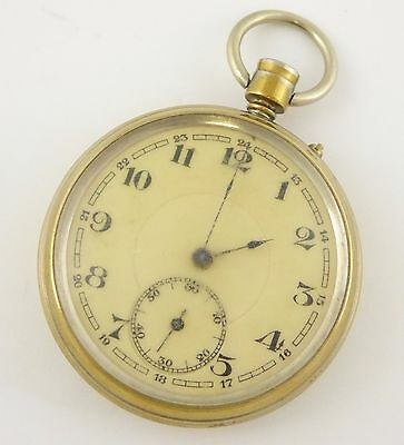 Vintage Brass Mechanical Pocket Watch for Parts Steampunk LAYBY