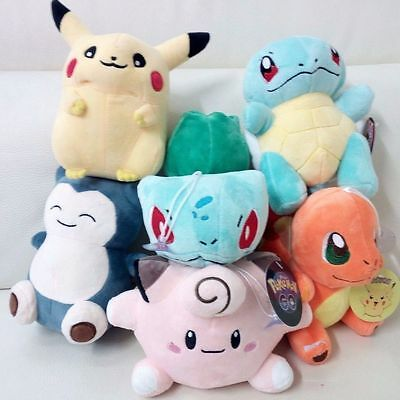 Pokemon Go Plush Pikachu Bulbasaur Squirtle Charmander Soft Toy Brand New