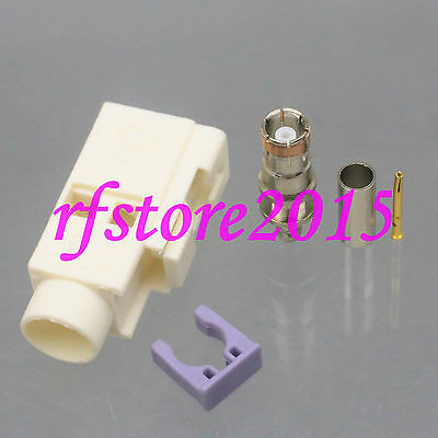 1pce Connector Fakra SMB B 9001 female jack crimp RG316 RG174 LMR100 RF COAXIAL