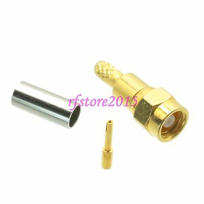 1pce Connector SMC female jack crimp RG316 RG174 LMR100 RF COAXIAL Straight