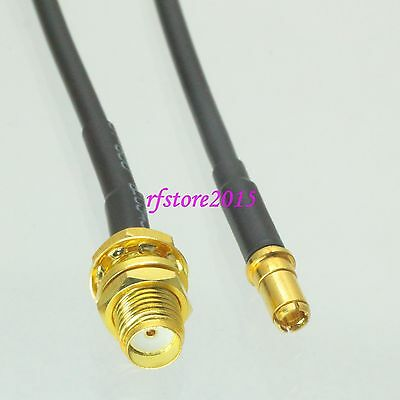 Cable RG174 6inch SMA female bulkhead to TS9 male plug Gold RF Pigtail Jumper