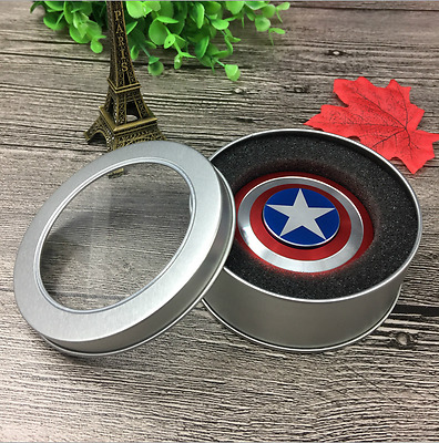 America Shiel Fidget Toy Metal Finger Stress Hand Spinner Spinner Captain