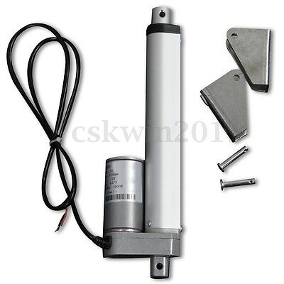 6'' 150mm 1000N 12mm/s Linear Actuator Motor Door Opener Heavy Duty Bracket 12V