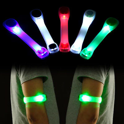 Silicone LED Safety Belt Arm Strap Night Cycling Running Jogging Armband Light