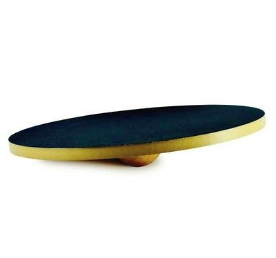 Wooden Wobble Balance Board 46cm – Anti Slip Surface Rehab Ankle Knee Hip