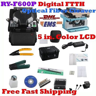 New RY-F600P Digital FTTH Optical Fiber Cleaver Holders 5.1 inch TFT Color LCD