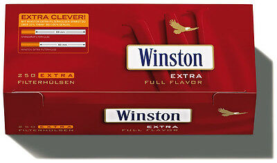 2000 (8x250) Winston EXTRA (Sleeves, Filter sleeves, Cigarette tubes)