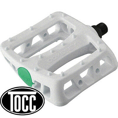 "BMX Pedals Odyessy Twisted Platform Pedals 9/16"" suit 3pce (White)"