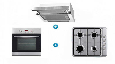 Brand New Akai 3 Piece Cooking Package 5 Function Oven + Gas Cooktop + Rangehood