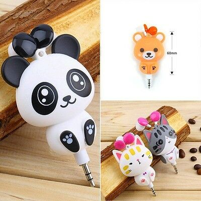 1pc Cartoon Retractable In-Ear Earbud Earphones For Mobile Phone Computer Good