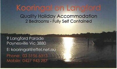 Paynesville, winter special. 5 nights, 2 br holiday unit near the lake.