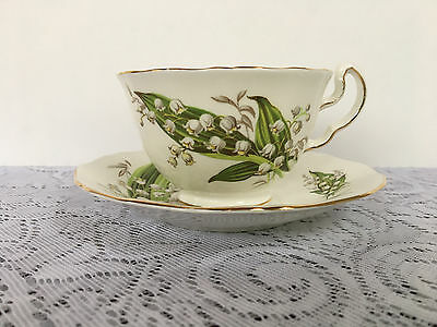 Adderley 'Lily of the Valley' Tea Cup & Saucer - 6 available (834)
