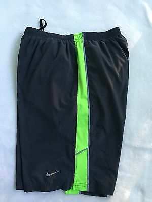 Men's Nike Dri Fit Running Training Workout  Athletic Gray  Shorts S Small