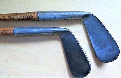 2 Antique - Hickory Shafted - Smoothface - Golf Clubs