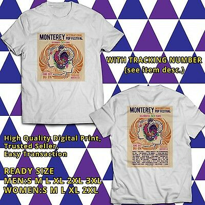 Monterey International Pop Fest Canada Tour 2017 White Tee Two Side UCST