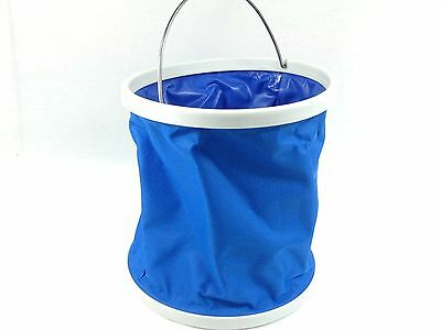 Collapsible Bucket Folding Water Container 9L with Carry Bag Camping Fishing