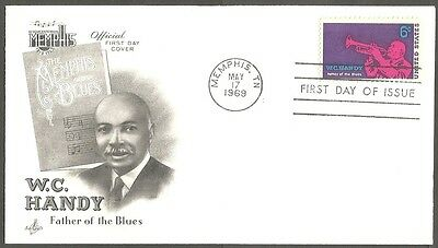 Us Fdc 1969 W.c.handy 6C Stamp Art Craft First Day Of Issue Cover Memphis Tn