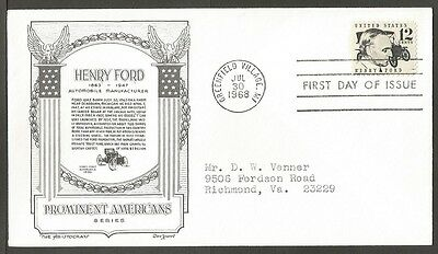 Us Fdc 1968 Henry Ford 12C Stamp The Aristocrats D Lowry First Day Of Issue