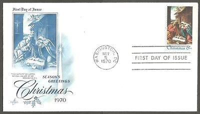 Us Fdc 1970 Christmas 8C Stamp The Nativity By Lotto First Day Of Issue Cover
