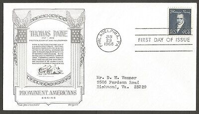 Us Fdc 1968 Thomas Paine 40C Stamp The Aristocrats D Lowry First Day Of Issue
