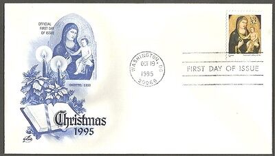 Us Fdc 1995 Christmas 32C Stamp Giotto Art Craft First Day Of Issue Cover