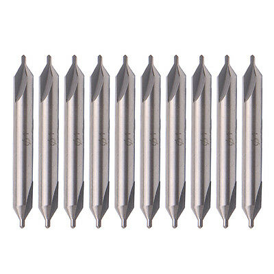 10x A-Type 1.0mm Tip HSS Combined Center Drill 60 Degree Angle Countersink Bit