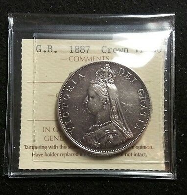 Great Britain 1887 Half Crown ICCS Graded VF-30 Absolutely Nice Detail MUST HAVE