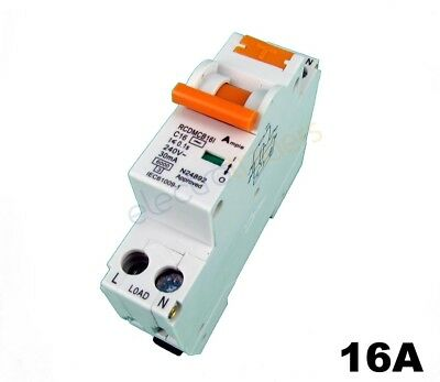 Safety Switch Circuit Breaker Combination RCBO Single Module 16 Amp 6kA Rated