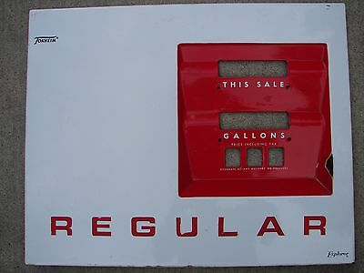 Old Gas Pump Porcelain Face Plate Gulf Shell Texaco Phillips 66 Chevron Sign STP