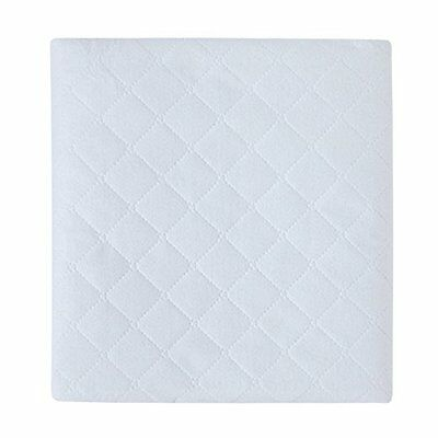 Portable  Crib  Matress Protector Pad, Solid White, - One Size