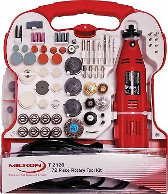 Micron 130W Rotary Tool Kit with Wall mountable storage Case with 172 Tool Bits