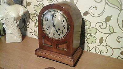 Fine Quality Vintage Junghans Bracket Clock Strikes Half And Full Hours