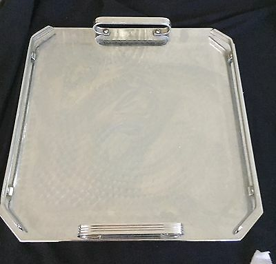 Tray - Square Ranleigh Stainless Steel-Serving Parties Drinks Good Cond