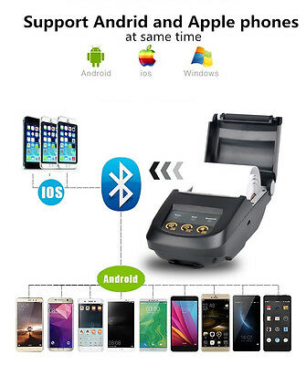 Wireless 58mm Bluetooth Thermal Receipt Printer Support Android IOS Windows JS