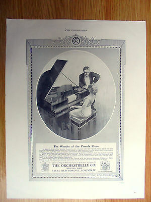 1913 ADVERT THE PIANOLA PIANO,THE ORCHESTRELLE Co,AEOLIAN HALL