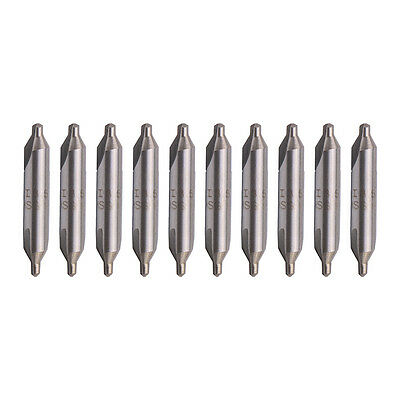 10x A-Type 3.5mm Tip HSS Combined Center Drill 60 Degree Angle Countersink Bit