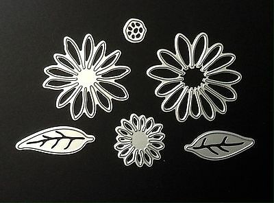 6pce Flower/leaves Metal Cutting Dies For Scrapbooking And Card Making
