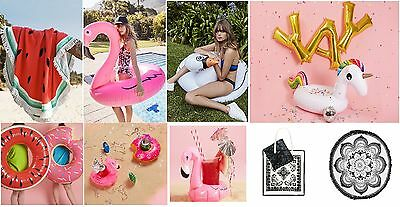 Inflatable Unicorn Swan Flamingo Donut Watermelon Pool Party Beach Towel Primark