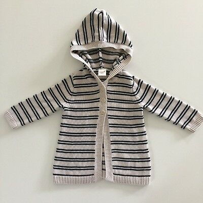 SEED Baby Unisex Cable Knit Cotton Cardigan Size 12-18 Months LIke New