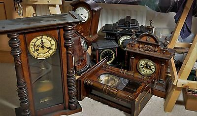 Antique Clock collection Marble Mantel Wall rare wholesale Job lot watchmaker