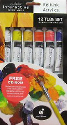 Atelier Interactive Acrylic Paint 12 Mini Tube Set