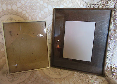 2 X VINTAGE ANTIQUE WOODEN FRAMES 1940/50's for PHOTO PICTURE PAINTING PRINT